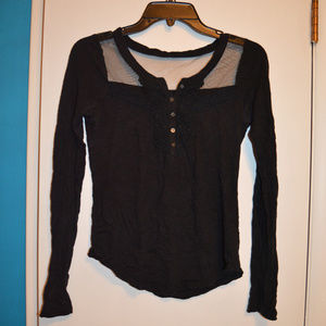 Black long sleeve with mesh back
